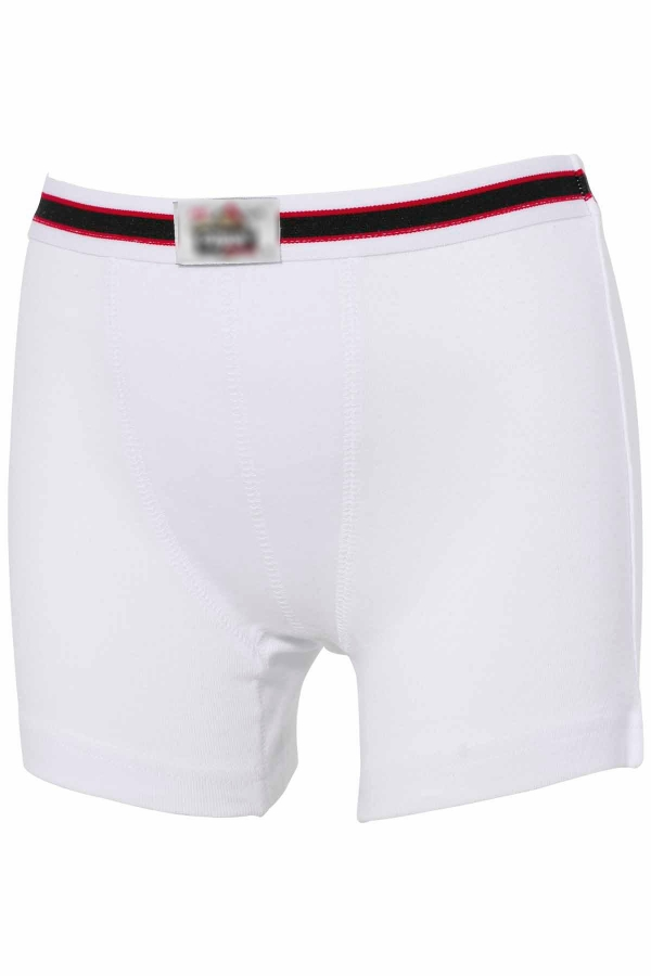 Kompedan Erkek Çocuk Boxer Beyaz K0711